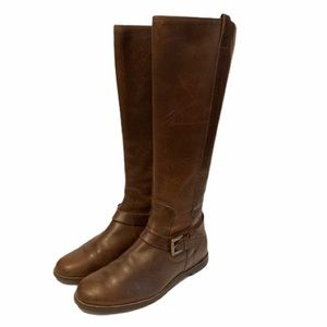 Cole Haan brown leather riding boots, 6.5
